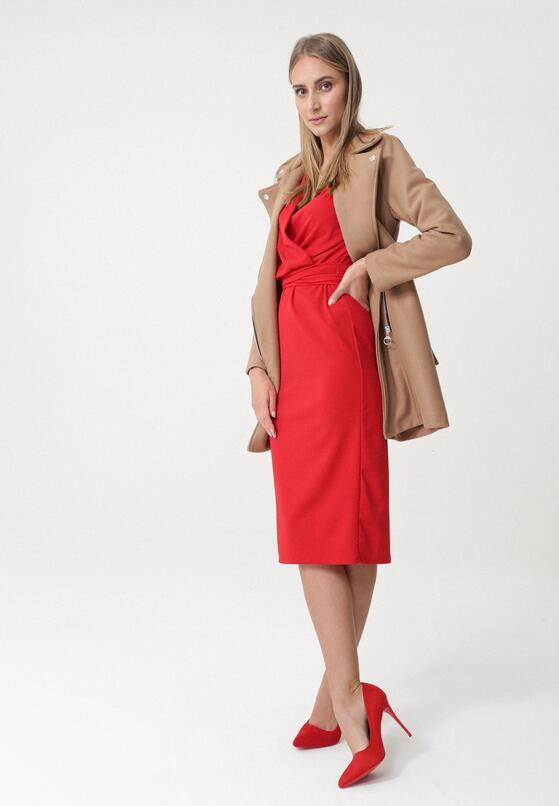 Czerwona Sukienka Shopton