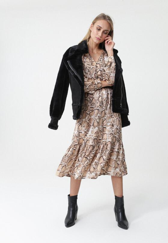 Beżowa Sukienka Modecai