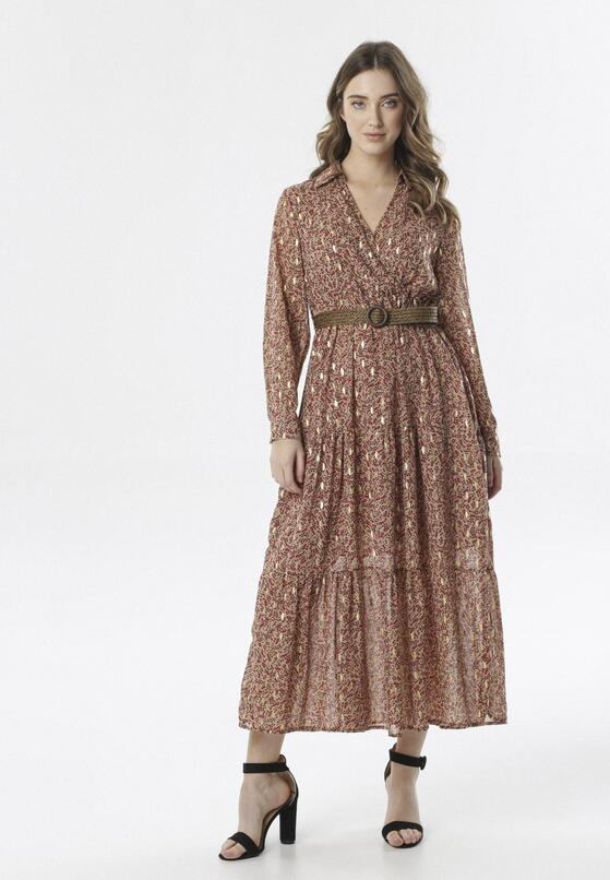 Beżowa Sukienka Fintone