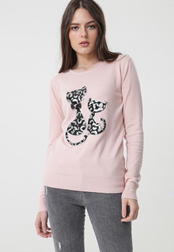 Różowy Sweter Bowers