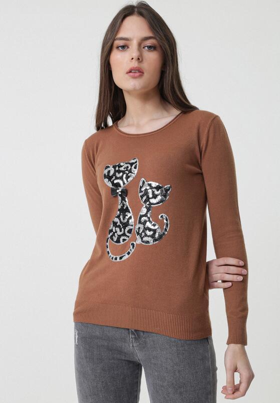 Jasnobrązowy Sweter Bowers
