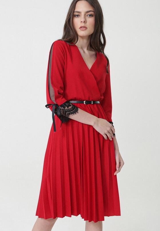 Czerwona Sukienka Kaylum