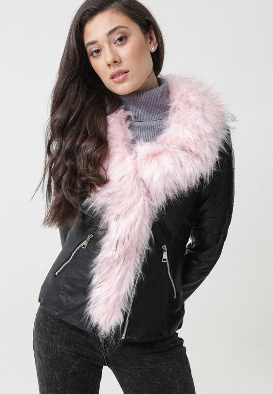 Czarno-Różowa Ramoneska Dione