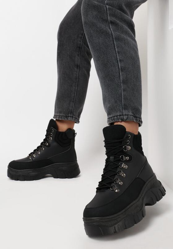 Czarne Sneakersy Sanchez