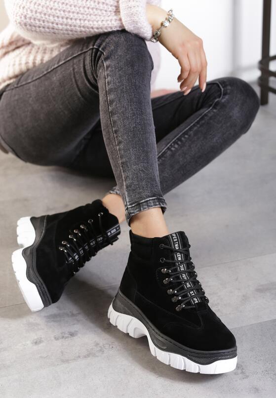 Czarne Sneakersy Chante