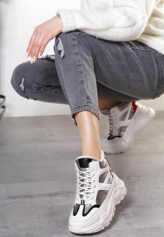 Srebrne Sneakersy Theodora