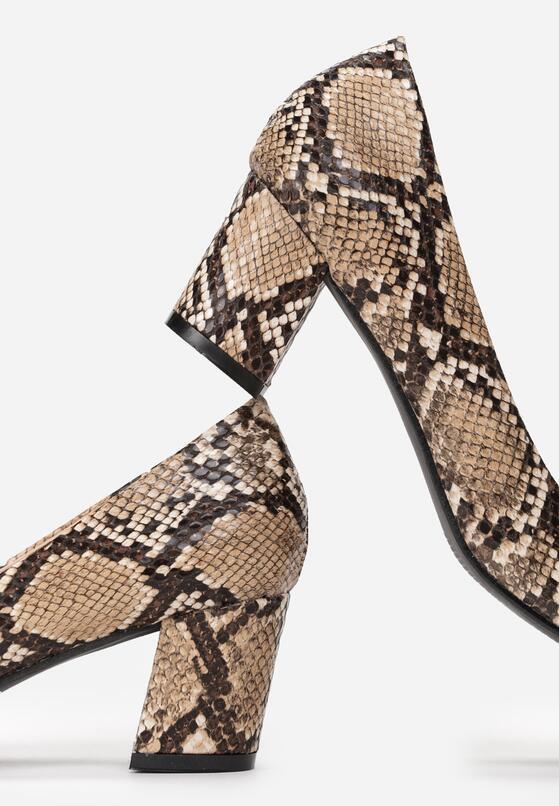 Bezowe Wężowe Wężowe Czółenka Thorpe