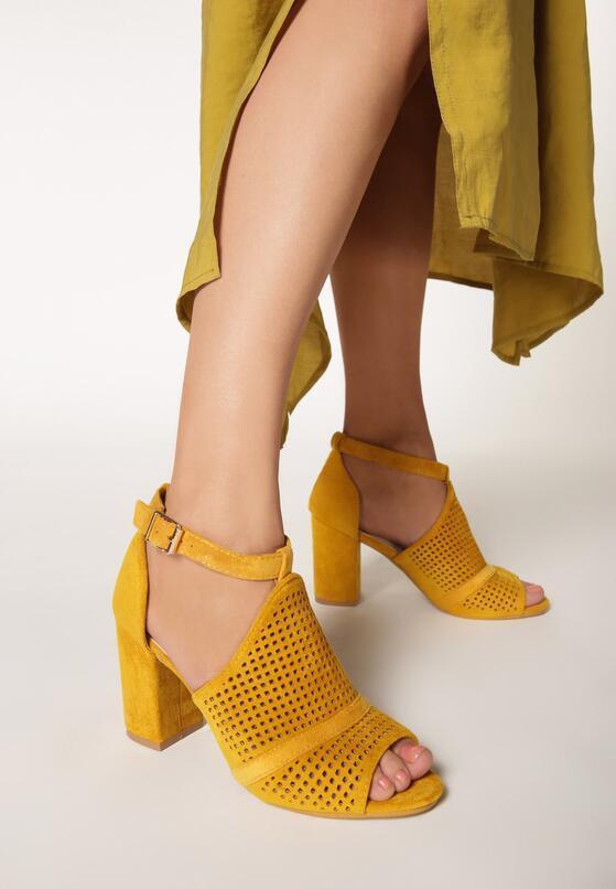 Żółte Sandały Anum