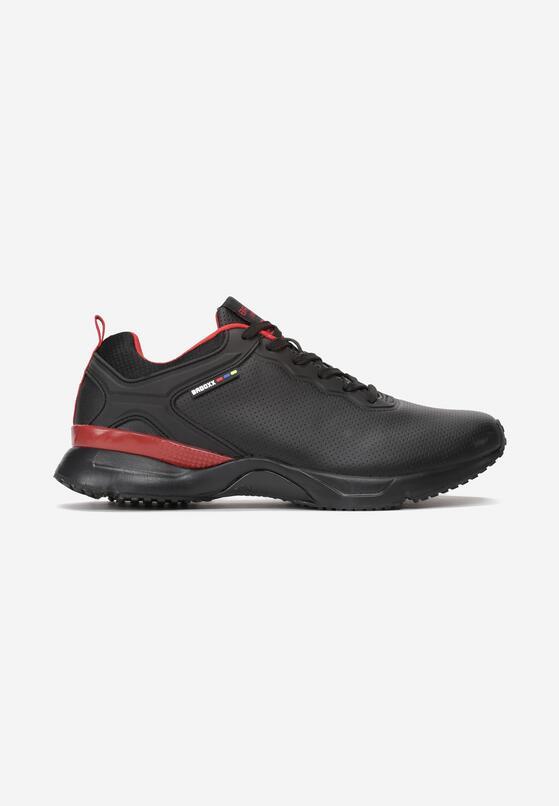 Czarno-Czerwone Buty Sportowe Turnbull