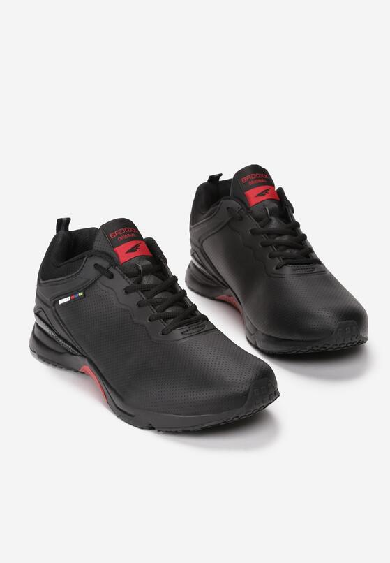 Czarno-Czerwone Buty Sportowe Christian