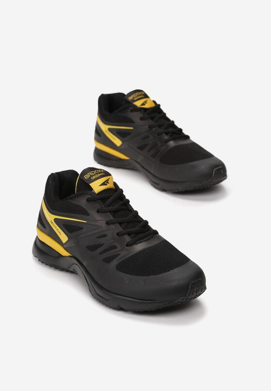Czarno-Żółte Buty Sportowe Tonisha