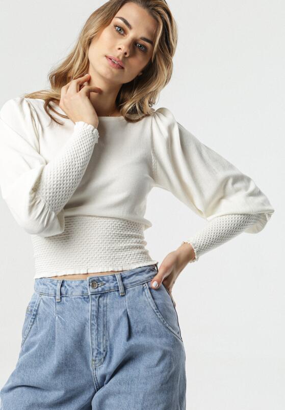 Biały Sweter Weber