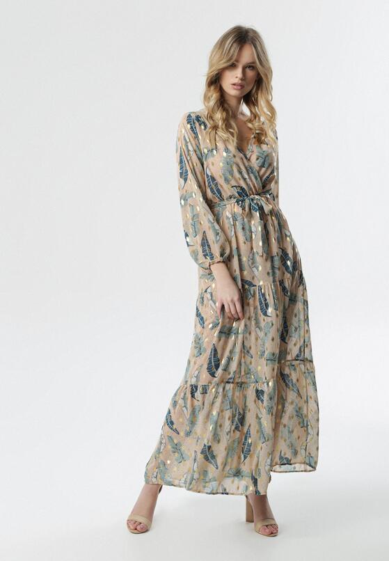 Jasnobeżowa Sukienka Accurate