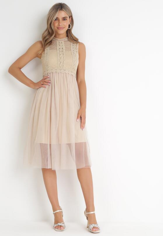 Ciemnobeżowa Sukienka Ortiz