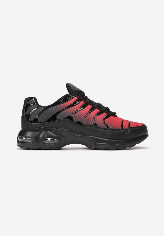 Czarno-Czerwone Buty Sportowe Sizable