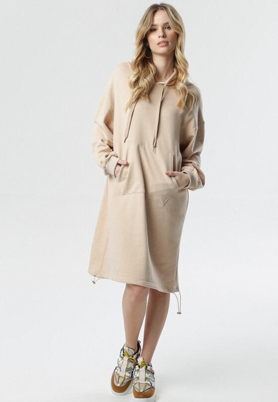 Jasnobeżowa Sukienka Cally