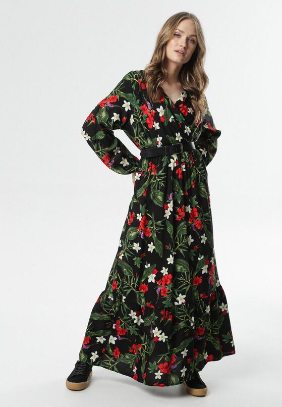 Czarno-Czerwona Sukienka Jean