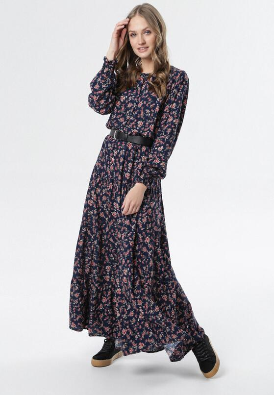 Granatowa Sukienka Santa Monica