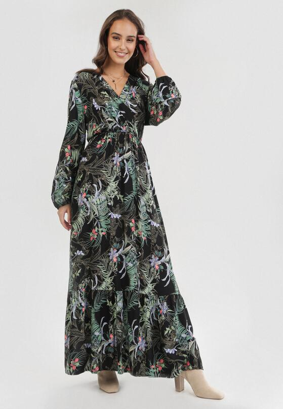 Czarno-Zielona Sukienka Jean