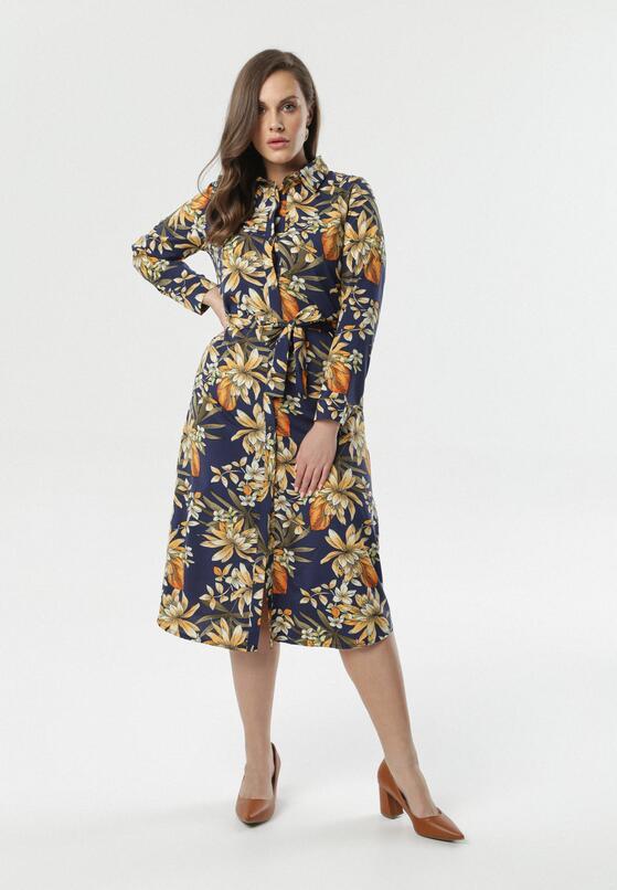 Granatowa Sukienka Garcia