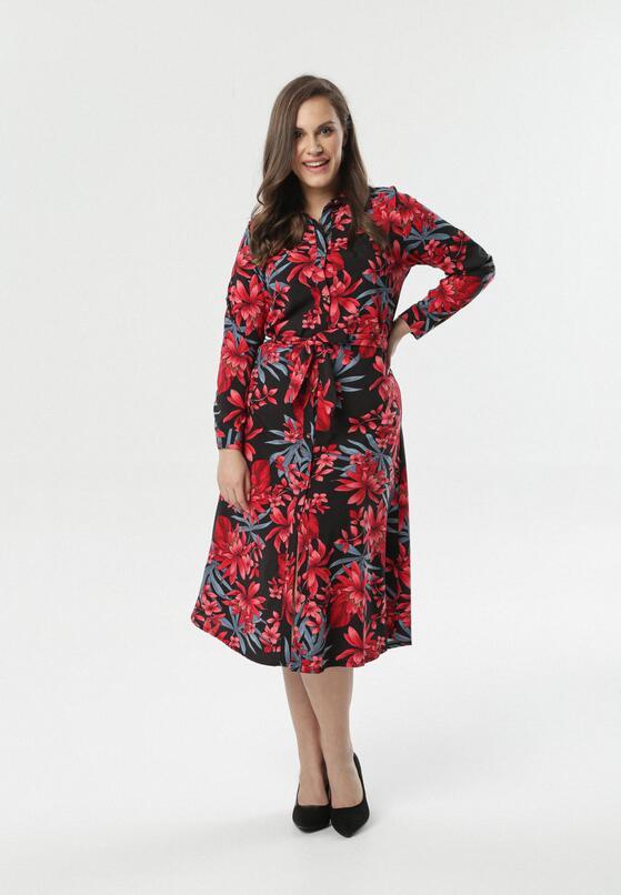 Czarno-Czerwona Sukienka Garcia