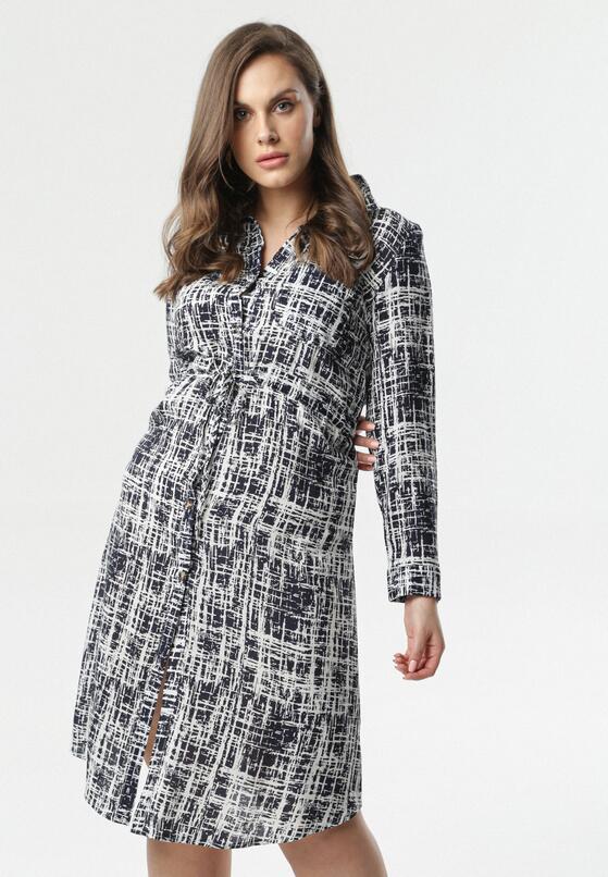 Granatowa Sukienka Najma