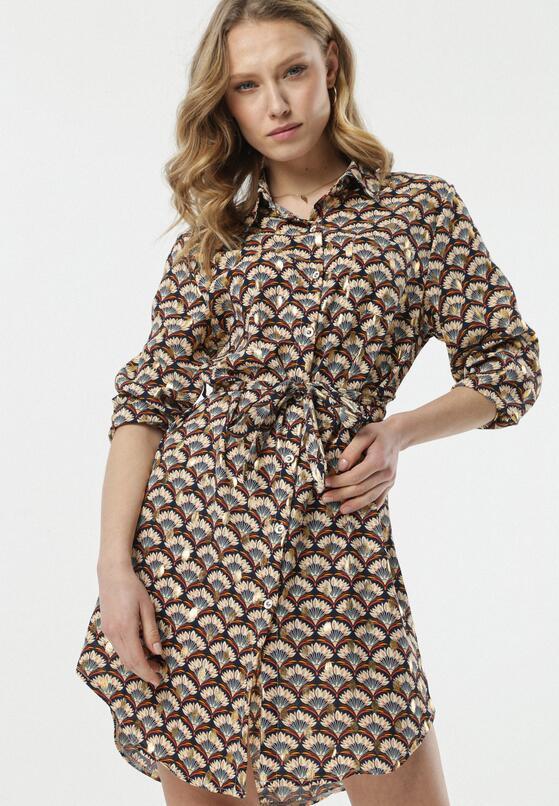 Granatowa Sukienka Phebe