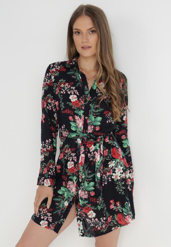 Granatowa Sukienka Warner