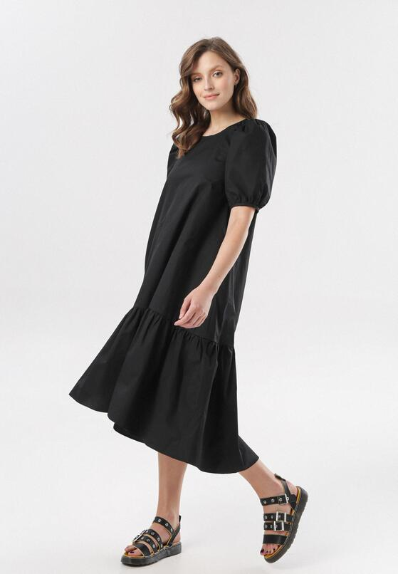Czarna Sukienka Petal