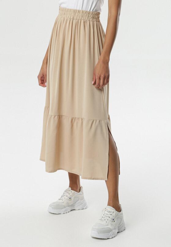 Jasnobeżowa Spódnica Tana
