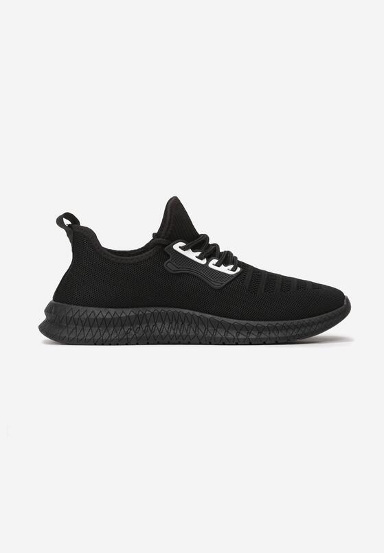Czarno-Białe Buty Sportowe Thurdian