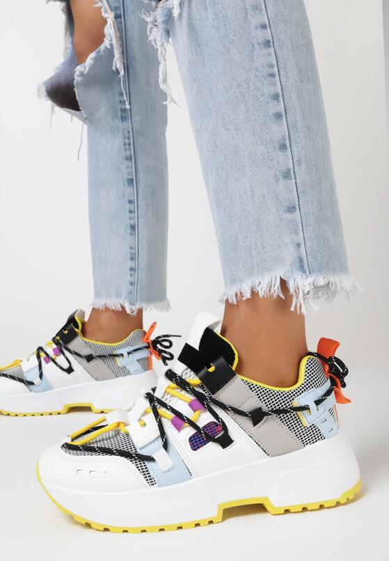 Biało-Żółte Sneakersy Kerokeis