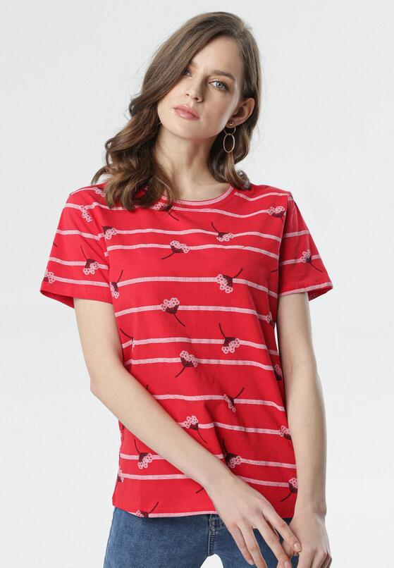 Czerwony T-shirt Aora