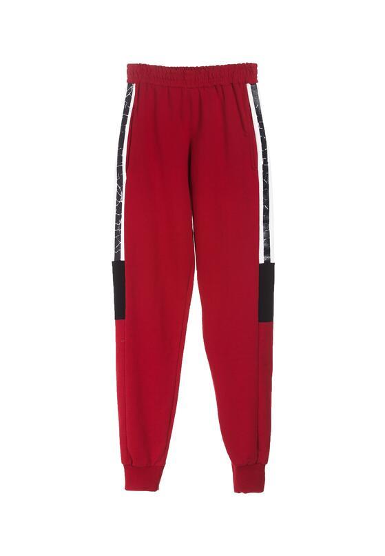 Bordowe Spodnie Thronise