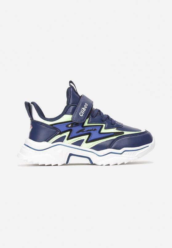 Niebiesko-Zielone Buty Sportowe Caligeina
