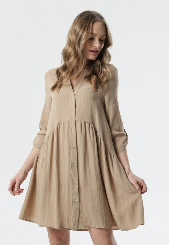 Ciemnobeżowa Sukienka Mephite