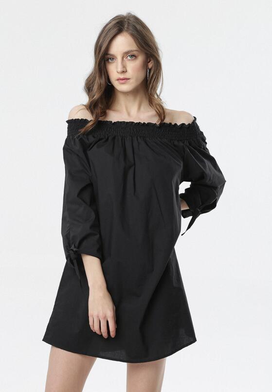 Czarna Sukienka Morea