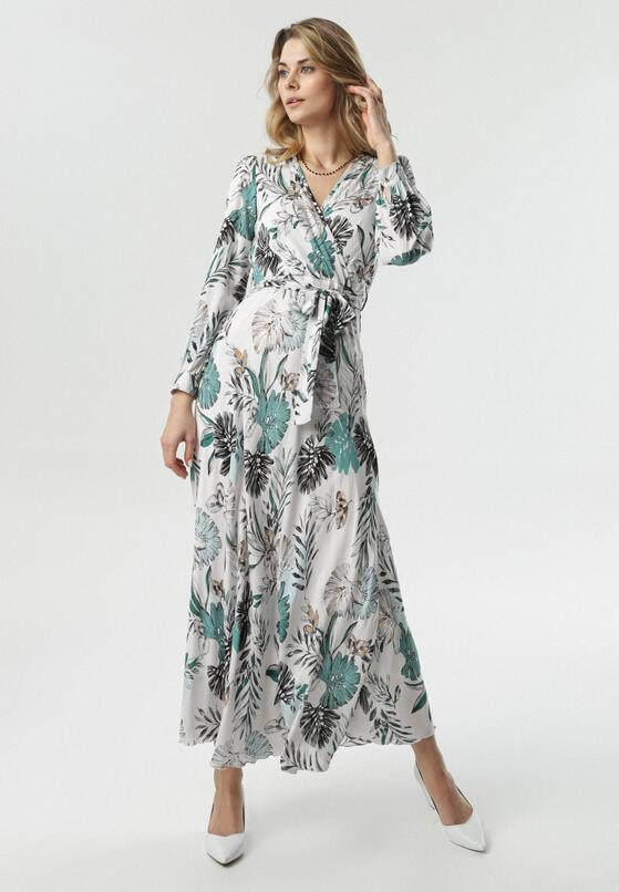 Biało-Miętowa Sukienka Turtledove