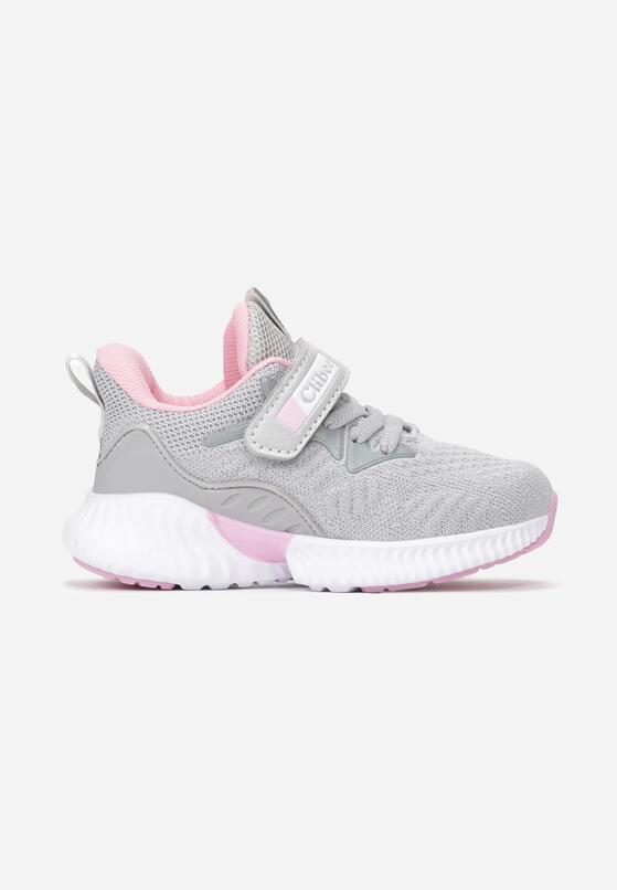 Szaro-Różowe Buty Sportowe Murielila
