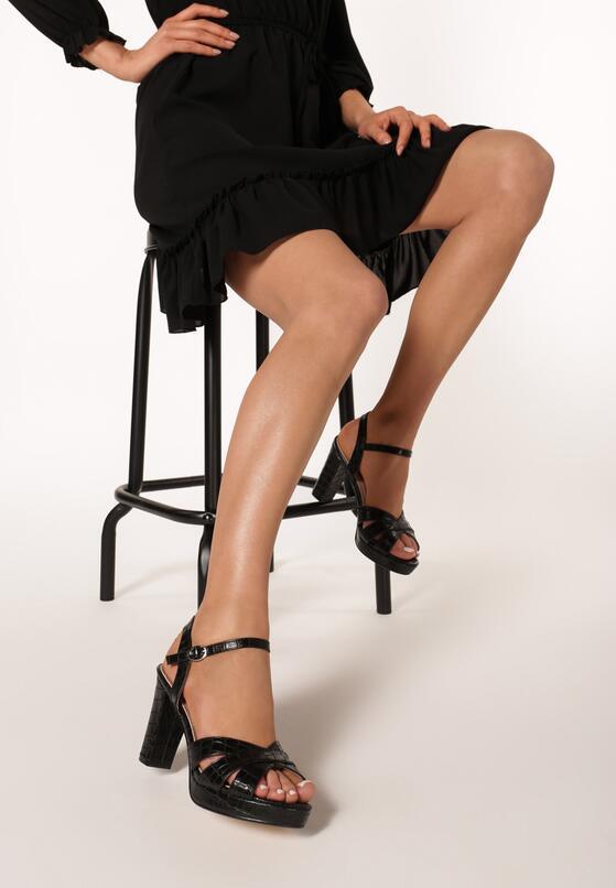 Czarne Sandały Dopiara