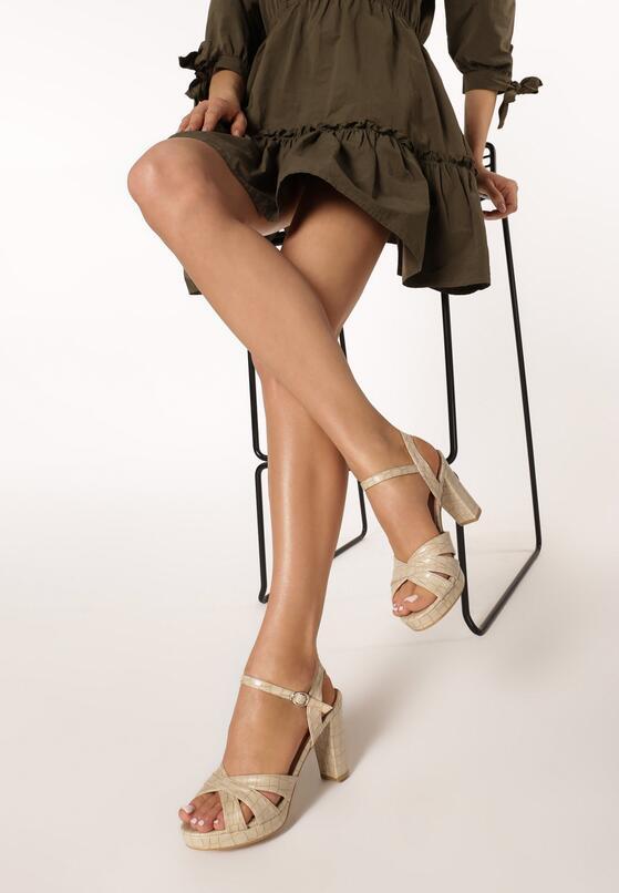 Beżowe Sandały Dopiara