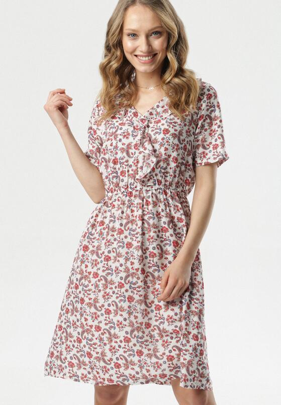 Biało-Czerwona Sukienka Nereily