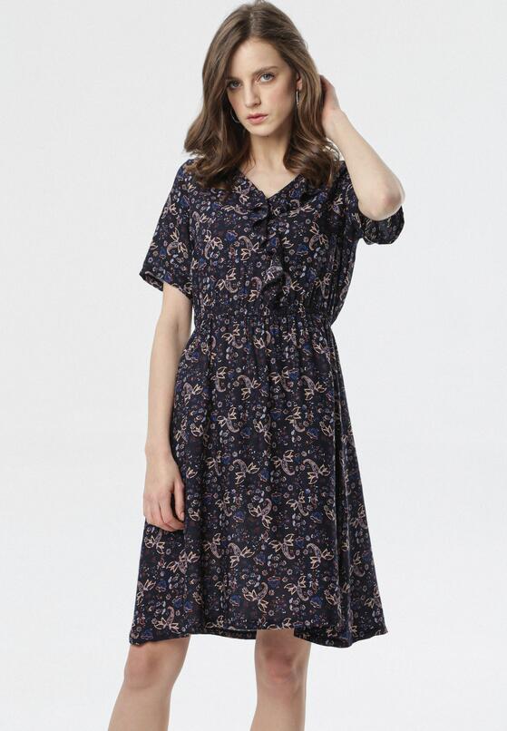 Granatowa Sukienka Nereily