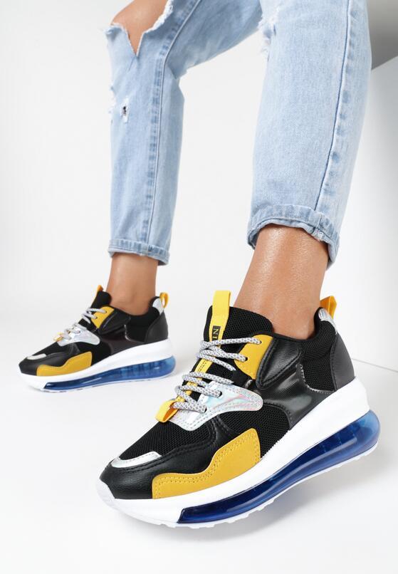 Czarne Sneakersy Sicalis