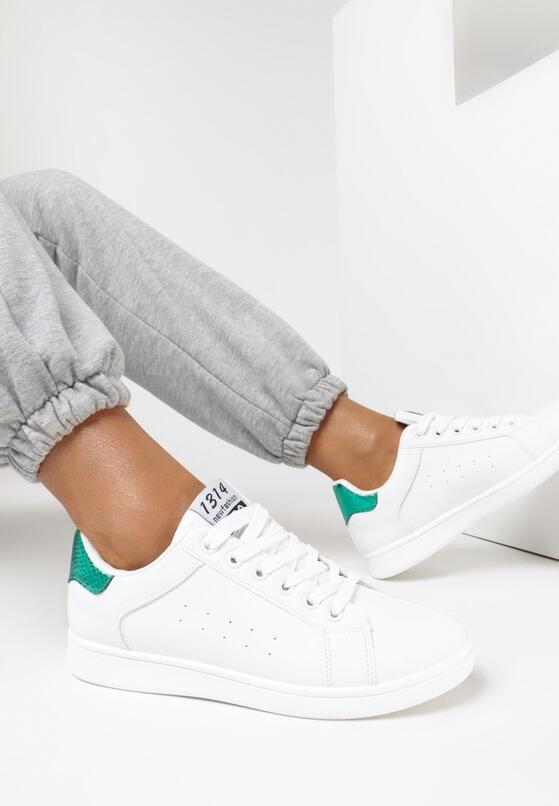 Biało-Zielone Buty Sportowe Folmar