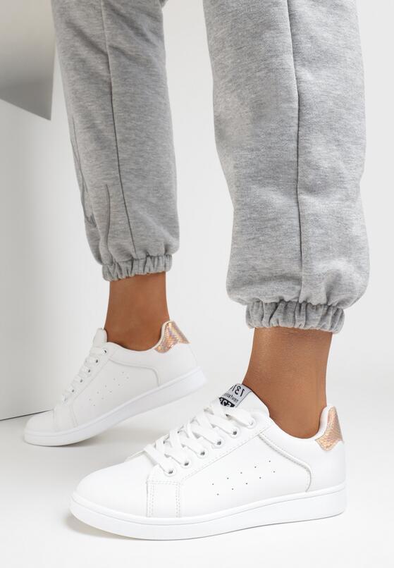 Biało-Szampańskie Buty Sportowe Folmar