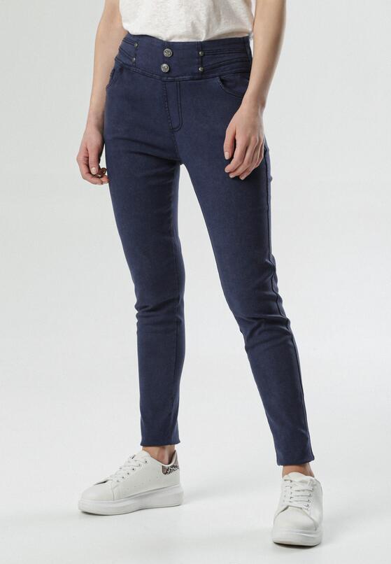 Granatowe Spodnie Melella