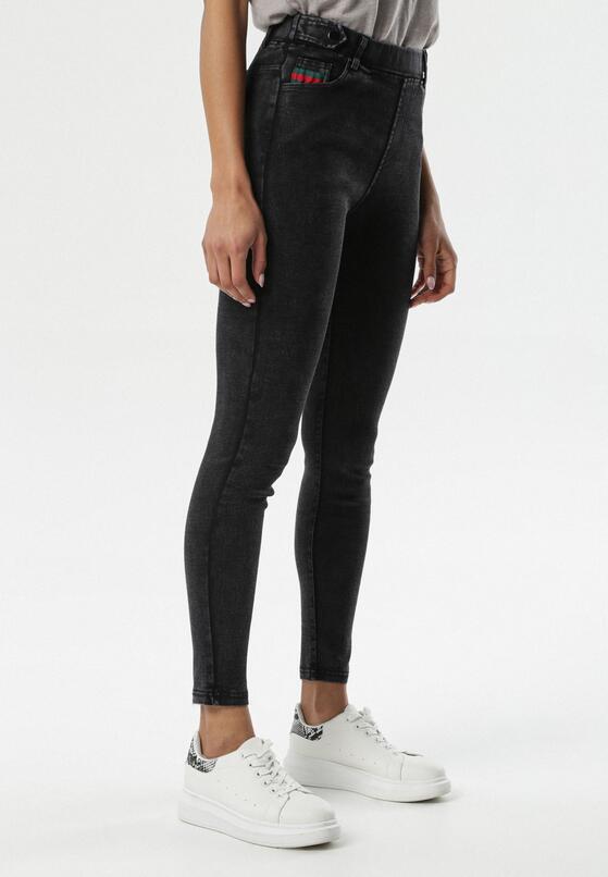 Czarne Spodnie Jegginsy Melvella