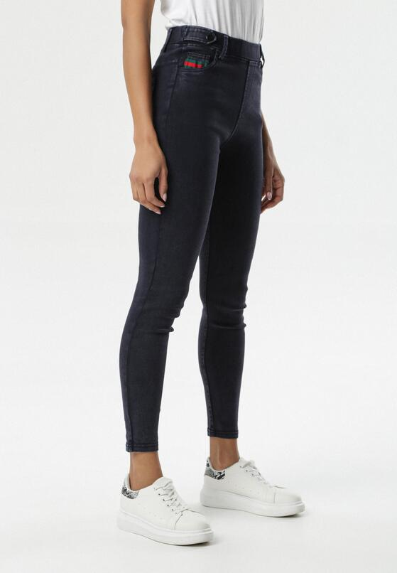 Granatowe Spodnie Jegginsy Melvella