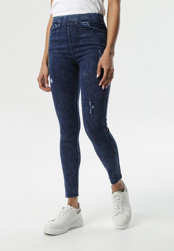 Granatowe Spodnie Jegginsy Taylella